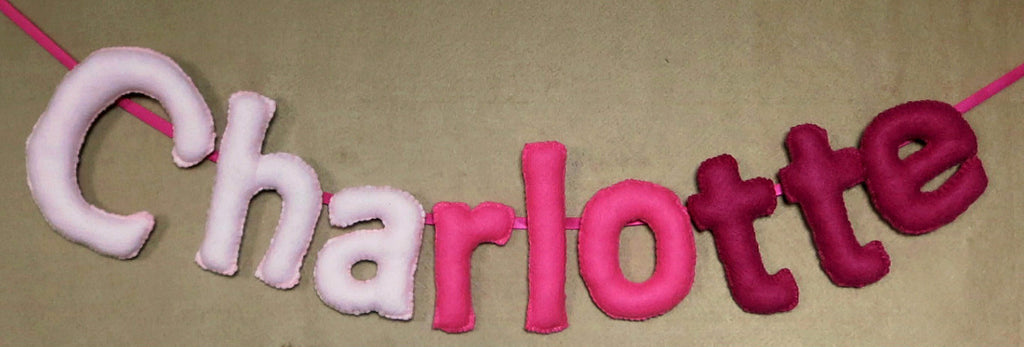 personalised felt name banner nchanted gifts