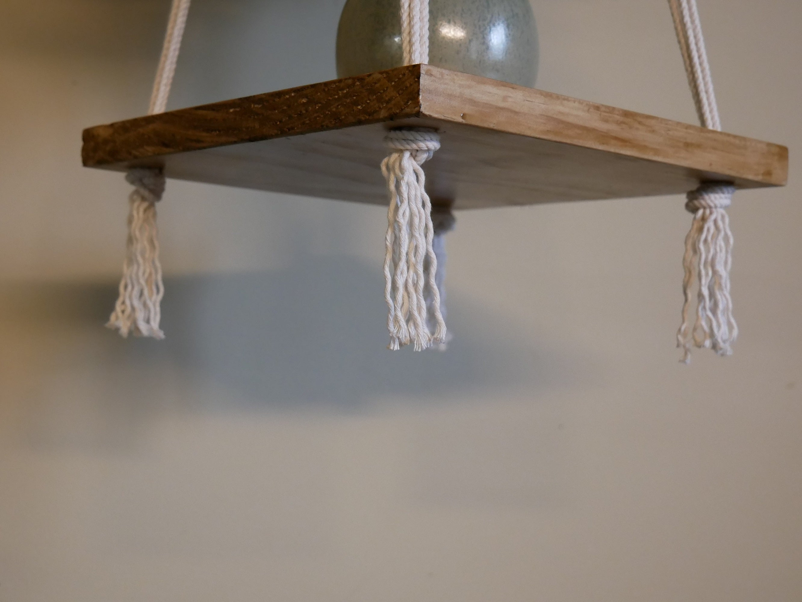 Macrame Plant Hanging Shelf