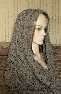 Women's-Crochet-1-Colour-Infinity-Scarf-Nchanted-Gifts