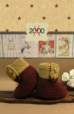 Load image into Gallery viewer, CLEARANCE-SALE-Knitted-Brown-Tan-Baby-Shoes-Nchanted-Gifts