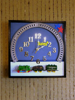 Load image into Gallery viewer, Children's-Train-Wall-Clock-Nchanted-Gifts