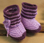 Load image into Gallery viewer, Striped-Knitted-Baby-Booties-Nchanted-Gifts