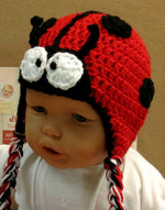 Load image into Gallery viewer, Ladybug-Crocheted-Beanie-Nchanted-Gifts