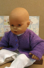 Load image into Gallery viewer, Purple-Wool-Kids-Cardigan-Nchanted-Gifts