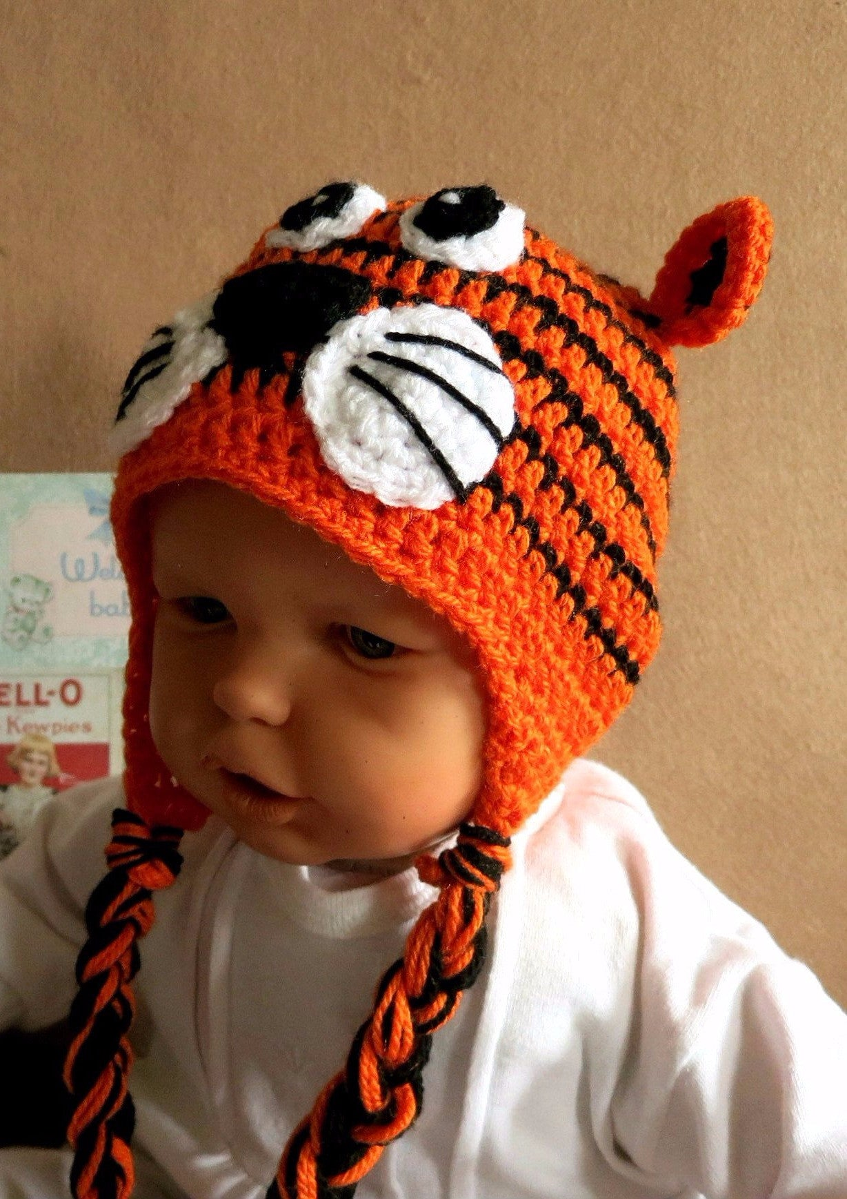 Tiger-Face-Beanie-Hand-Crocheted-Nchanted-Gifts