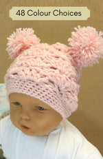 Load image into Gallery viewer, Crochet-Beanie-with-Pom-Poms-Nchanted-Gifts