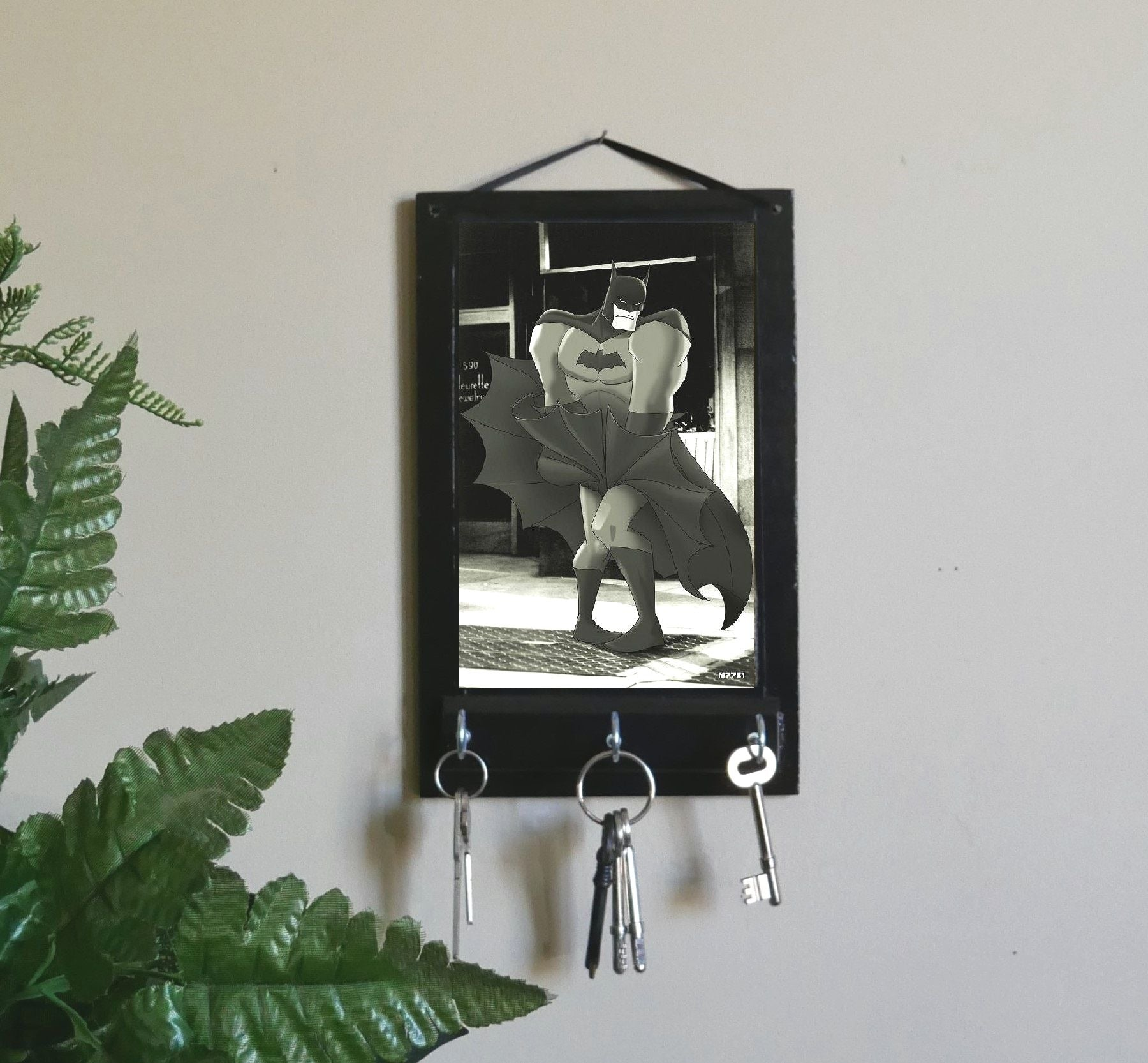 Entryway-Organizer-Marilyn-Monroe-Batman-Key-Rack-Nchanted-Gifts