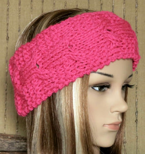 Hand-Knit-Cable-Headband-Nchanted-Gifts