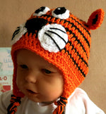 Load image into Gallery viewer, Tiger-Face-Beanie-Hand-Crocheted-Nchanted-Gifts