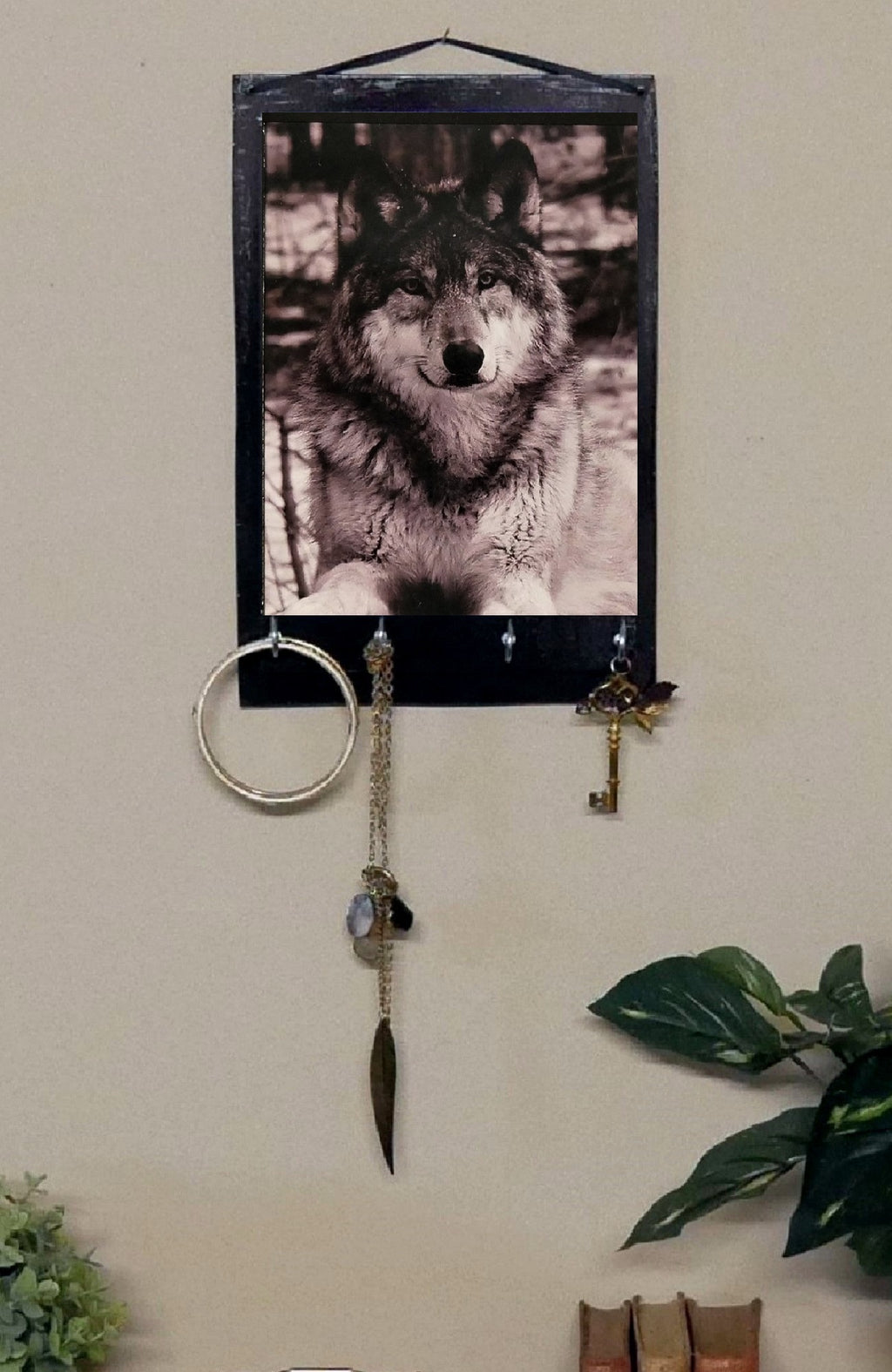 Wolf-Print-Key-Rack-Holder-Nchanted-Gifts