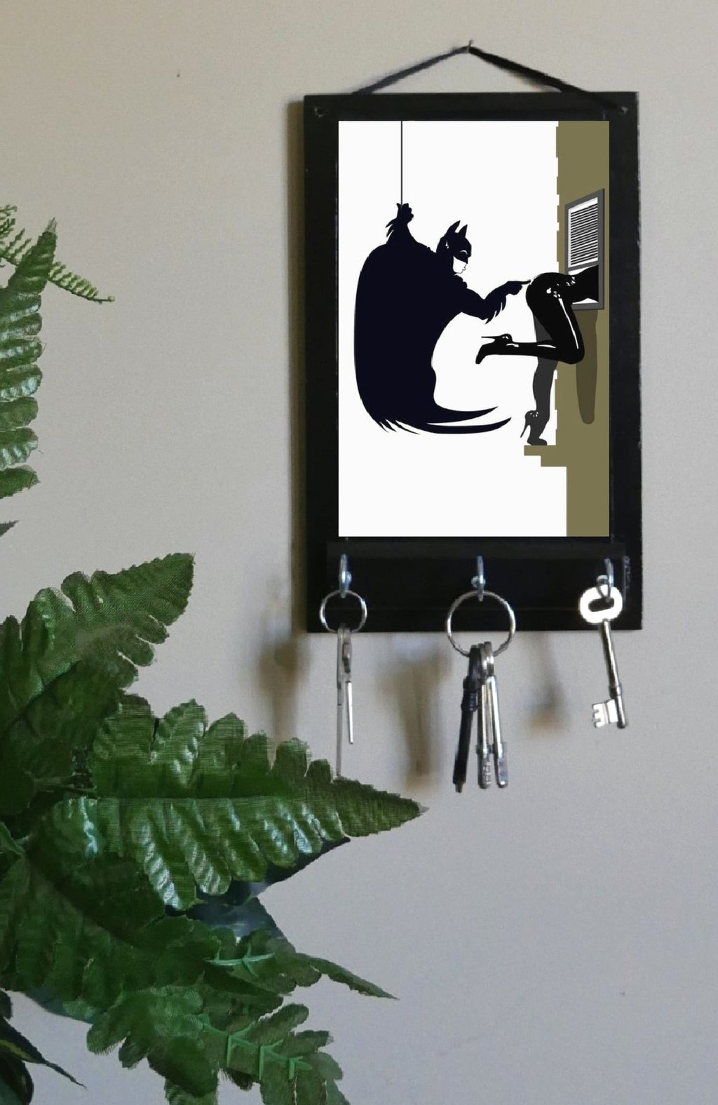 Comic-Batman-and-Cat-Woman-Key-Holder-Nchanted-Gifts