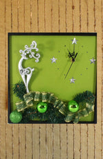 Load image into Gallery viewer, Silver-Reindeer-Wall-Clock-Nchanted-Gifts