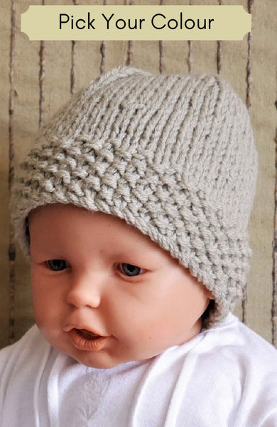 Knitted-Beanie-With-Patterned-Band-Nchanted-Gifts