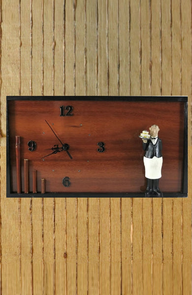Kitchen-Wall-Clock-With-Butler-Nchanted-Gifts