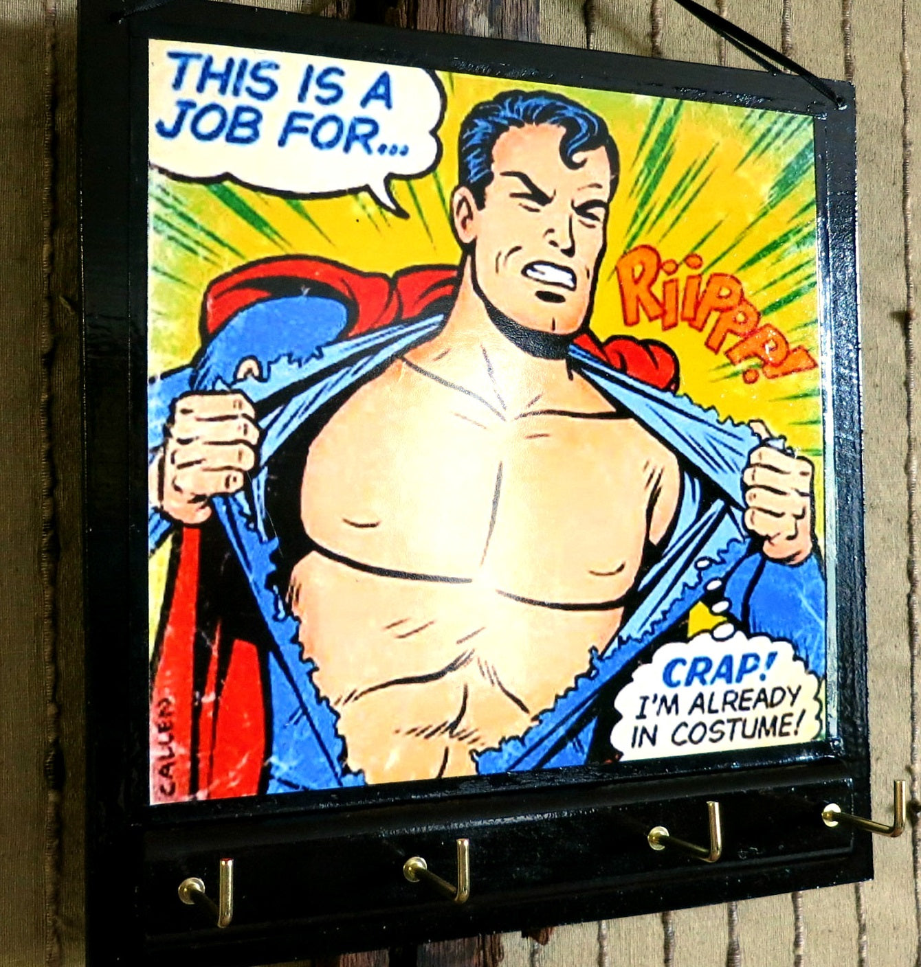 Key-Rack-Holder-(Comic-Superman-Print)-Nchanted-Gifts