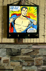 Load image into Gallery viewer, Key-Rack-Holder-(Comic-Superman-Print)-Nchanted-Gifts