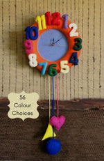 Load image into Gallery viewer, Nursery-Felt-Wall-Clock-Nchanted-Gifts