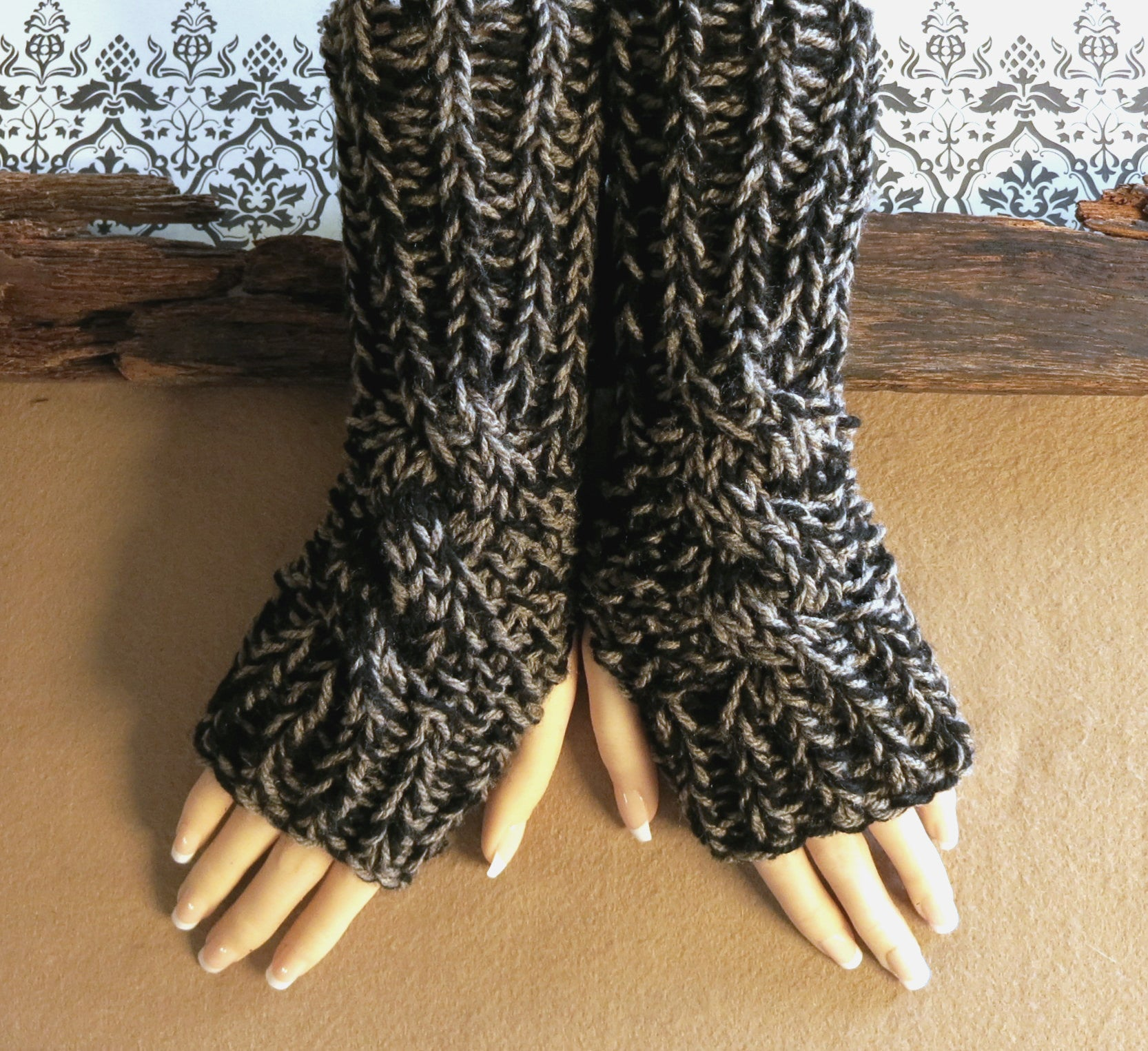 Cabled-Fingerless-Gloves-Nchanted-Gifts