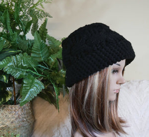 Cable-Knit-Hat-Wool-Beanie-Nchanted-Gifts