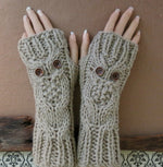Load image into Gallery viewer, Fingerless-Owl-Gloves-Nchanted-Gifts