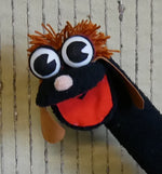 Load image into Gallery viewer, Sock-Hand-Puppet-Black-Dog-Nchanted-Gifts