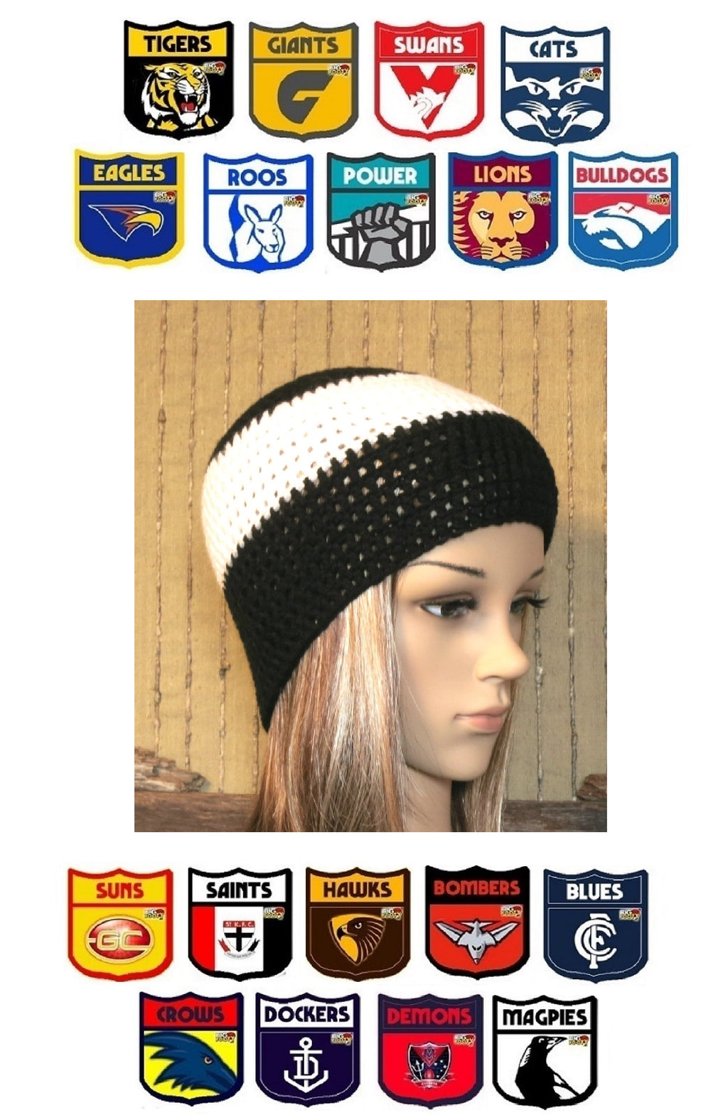 AFL-Beanies-for-Children-And-Teenagers-Nchanted-Gifts