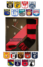 Load image into Gallery viewer, AFL-Football-Wall-Clock-in-All-Teams-Nchanted-Gifts