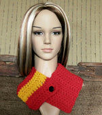 Load image into Gallery viewer, AFL-Crochet-Neckwarmer-Nchanted-Gifts