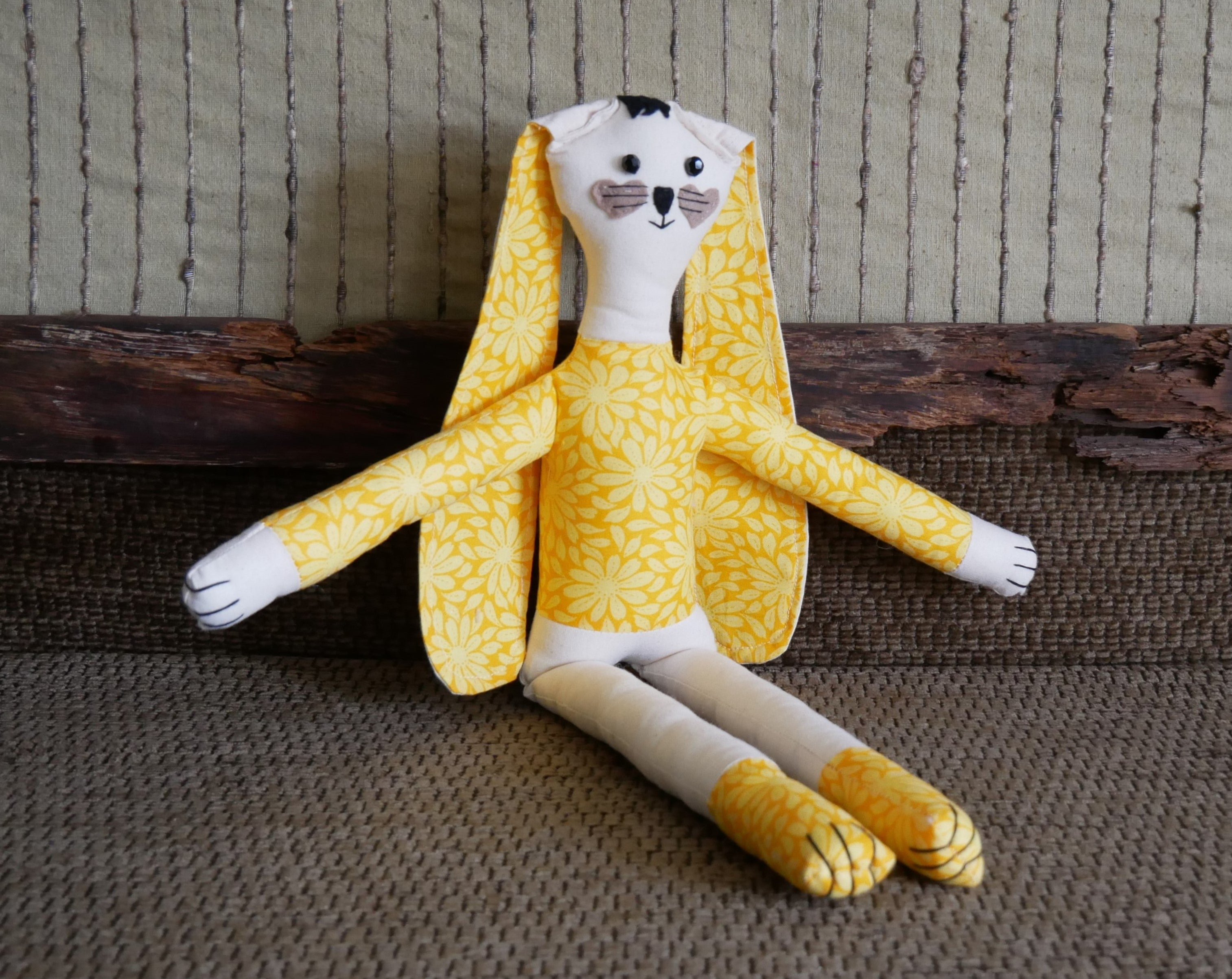 Handmade-Rag-Doll-In-Yellow-Daisy-Soft-Cloth-Nchanted-Gifts