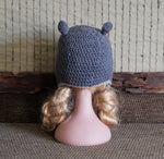 Load image into Gallery viewer, Hippo-Beanie-for-Fun-or-Baby-Photo-Prop-Nchanted-Gifts