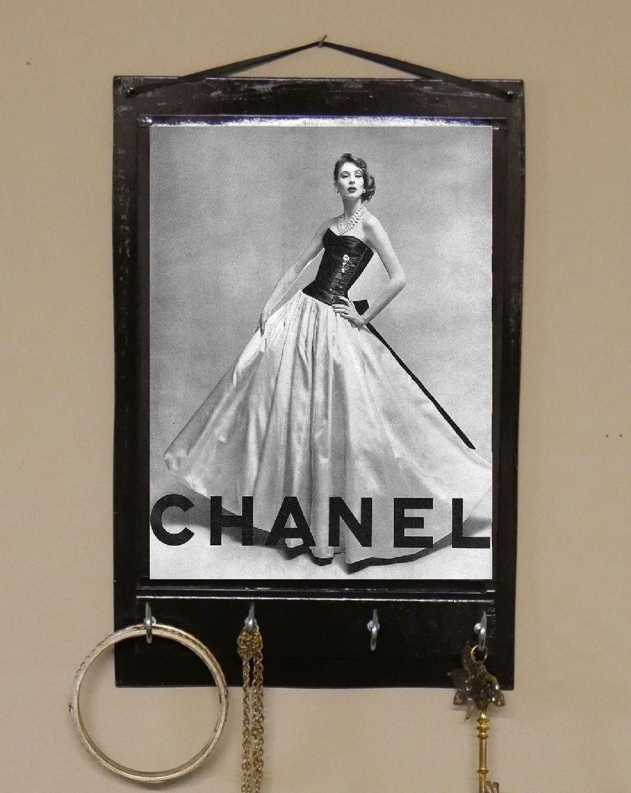 Chanel-Print-Key-Rack-Holder-Nchanted-Gifts