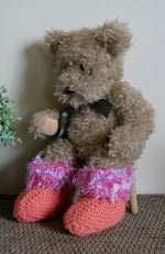 Load image into Gallery viewer, Clearance-Sale-Purple-Pink-and-Orange-Knitted-Slippers-Nchanted-Gifts