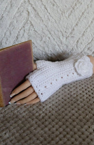 Flower-Fingerless-Wrist-Warmers-Nchanted-Gifts