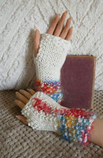 Load image into Gallery viewer, Boho-Wool-Corset-Wrist-Gloves-Nchanted-Gifts