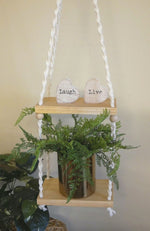 Load image into Gallery viewer, Macrame-Plant-Hanging-Shelf-Nchanted-Gift