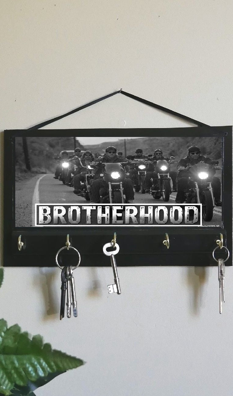 Brotherhood-Motor-Bike-Print-Key-Rack-Hanger-Nchanted-Gifts
