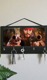 Load image into Gallery viewer, Johnny-Depp-as-Captain-Jack-Sparrow-Key-Rack-Hanger-Nchanted-Gifts