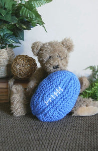 Knitted-Football-Baby-Toy-Nchanted-Gifts