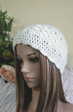 Load image into Gallery viewer, Cable-Beanie-in-Celtic-Weave-Nchanted-Gifts
