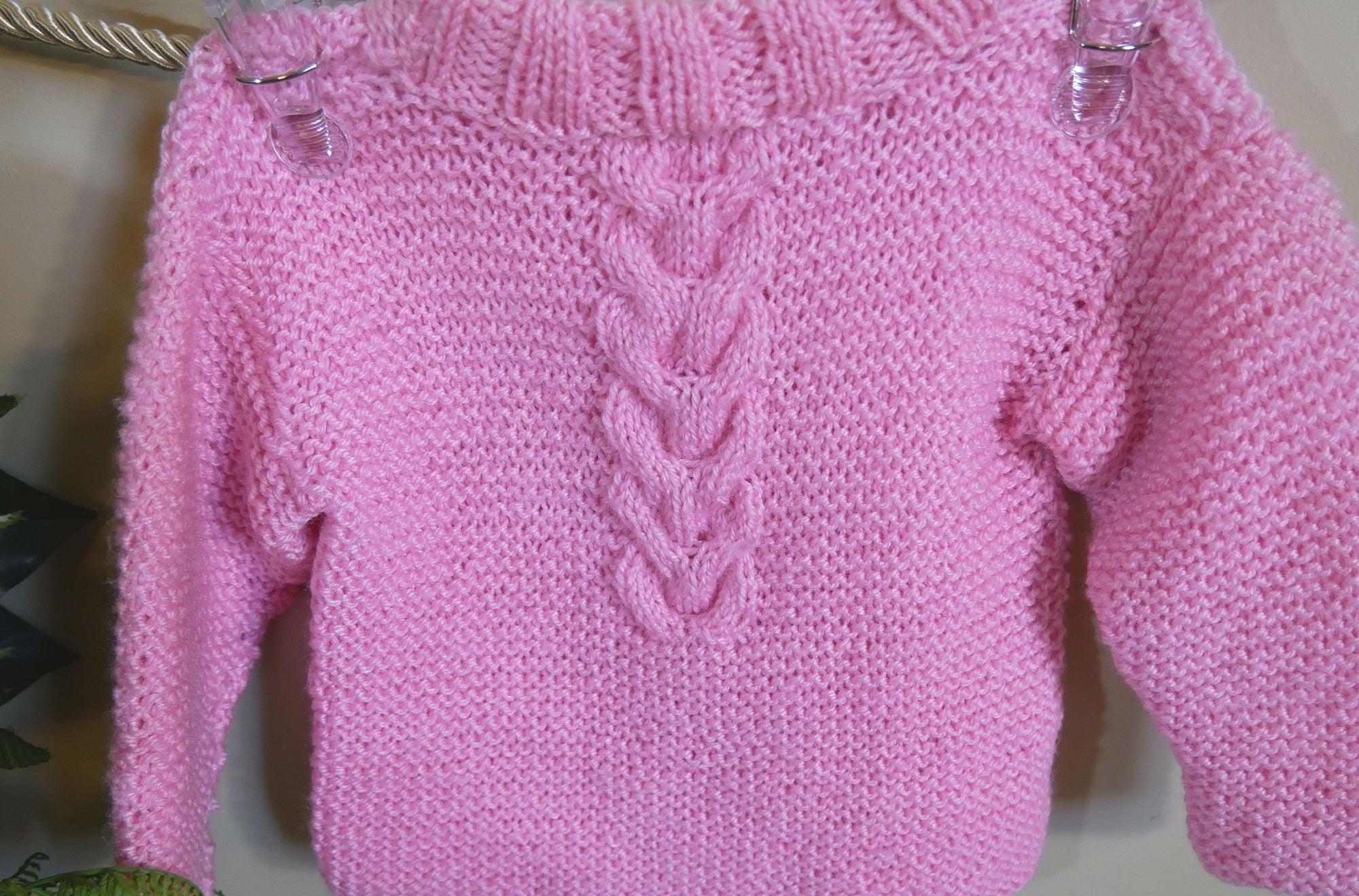 Pink-Cable-Pullover-Jumper-Nchanted-Gifts