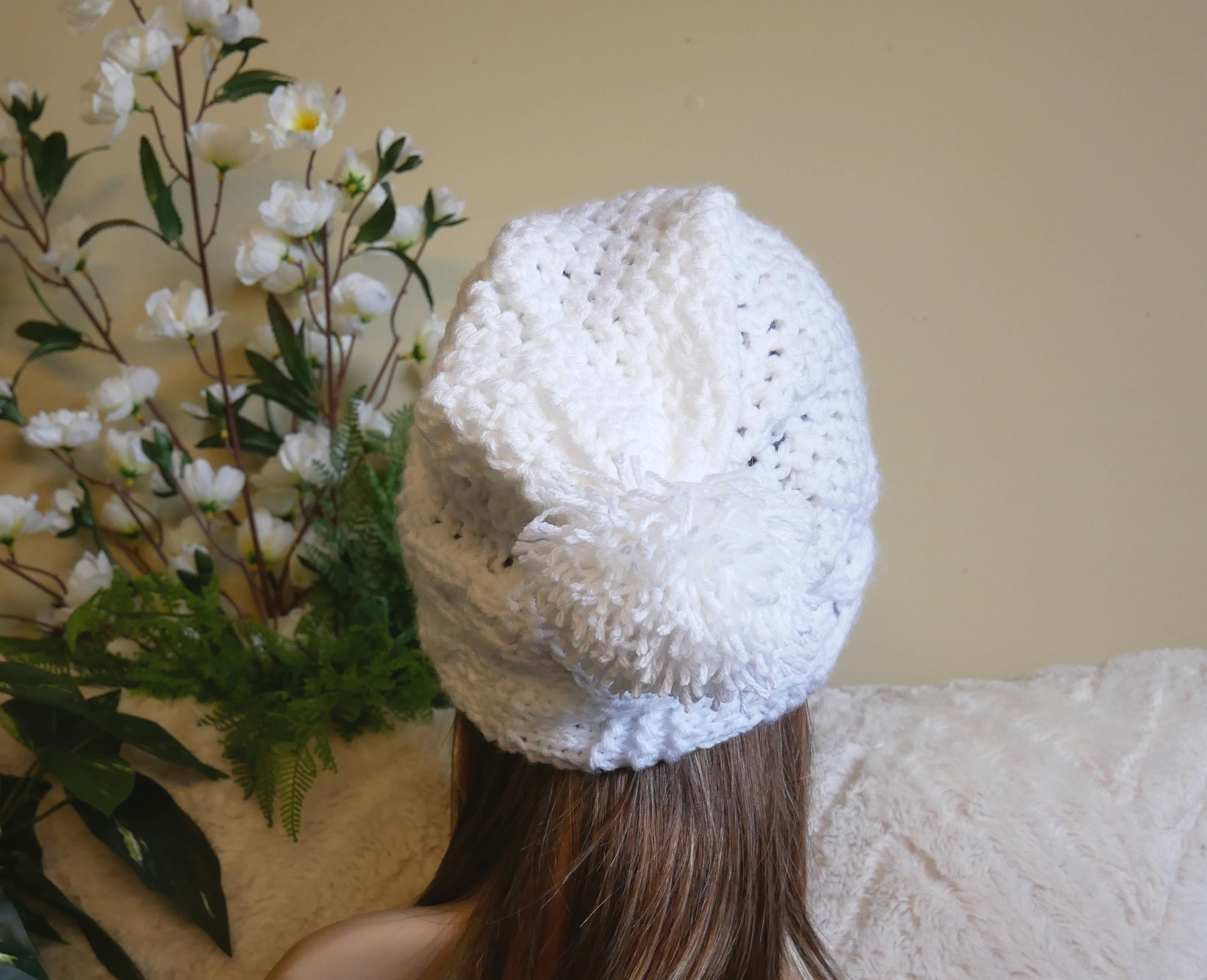 Cable-Band-Slouchy-Beanie-With-Pom-Pom-Nchanted-Gifts