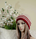 Load image into Gallery viewer, Striped-Crochet-Hat-Nchanted-Gifts