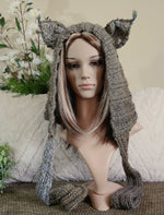 Load image into Gallery viewer, Cheshire-Cat-Knitted-Hood-Nchanted-Gifts