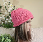 Load image into Gallery viewer, Knit Hat With Rolled Band