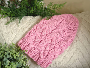 Cable-Slouchy-Beanie-Hat-Nchanted-Gifts