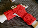 Load image into Gallery viewer, Fingerless-Gloves-with-Double-Cuffs-Nchanted-Gifts