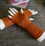 Load image into Gallery viewer, Cable-Fingerless-Gloves-with-Heart-Pattern-Nchanted-Gifts