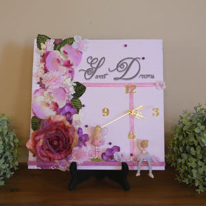 Girls-Fairy-Clock-with-Artificial-Flowers-Nchanted-Gifts