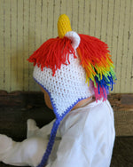 Load image into Gallery viewer, Unicorn-crochet-baby-beanie-Nchanted-Gifts