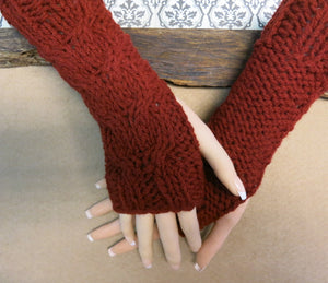 Cabled-Fingerless-Arm-Warmers-Nchanted-Gifts